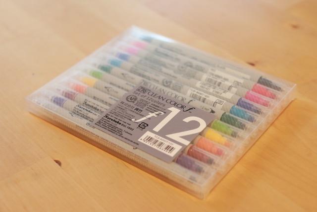 呉竹のクリーンカラーは発色が最高。課題はノートの裏うつり。
