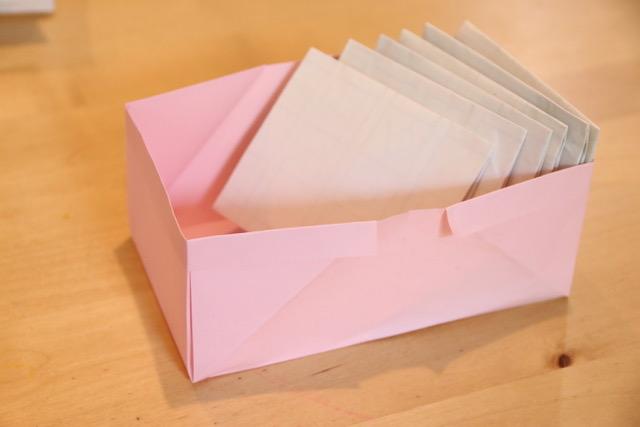 容量の大きな長箱(小物入れ)の作り方[コピー用紙や新聞紙で♪]