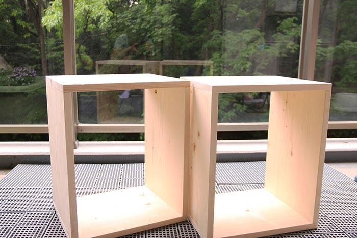 DIYでランドセル収納兼用、学習椅子を作る