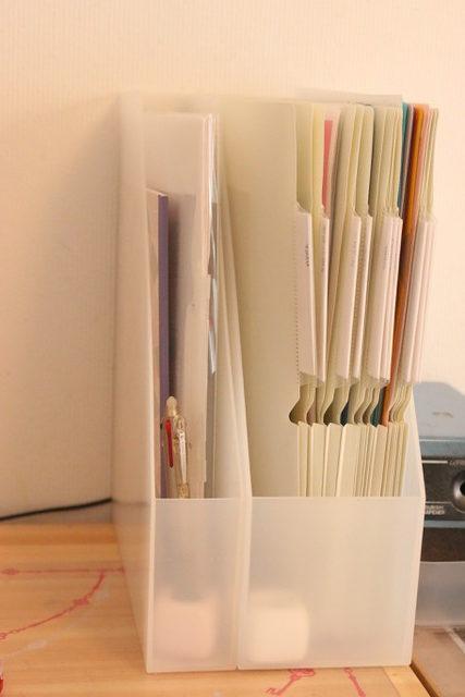 多すぎるクリアファイルの整理整頓:個別フォルダーが便利でした!