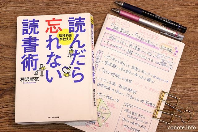 読んだら忘れない読書術[樺沢紫苑著]感想&内容のまとめノート
