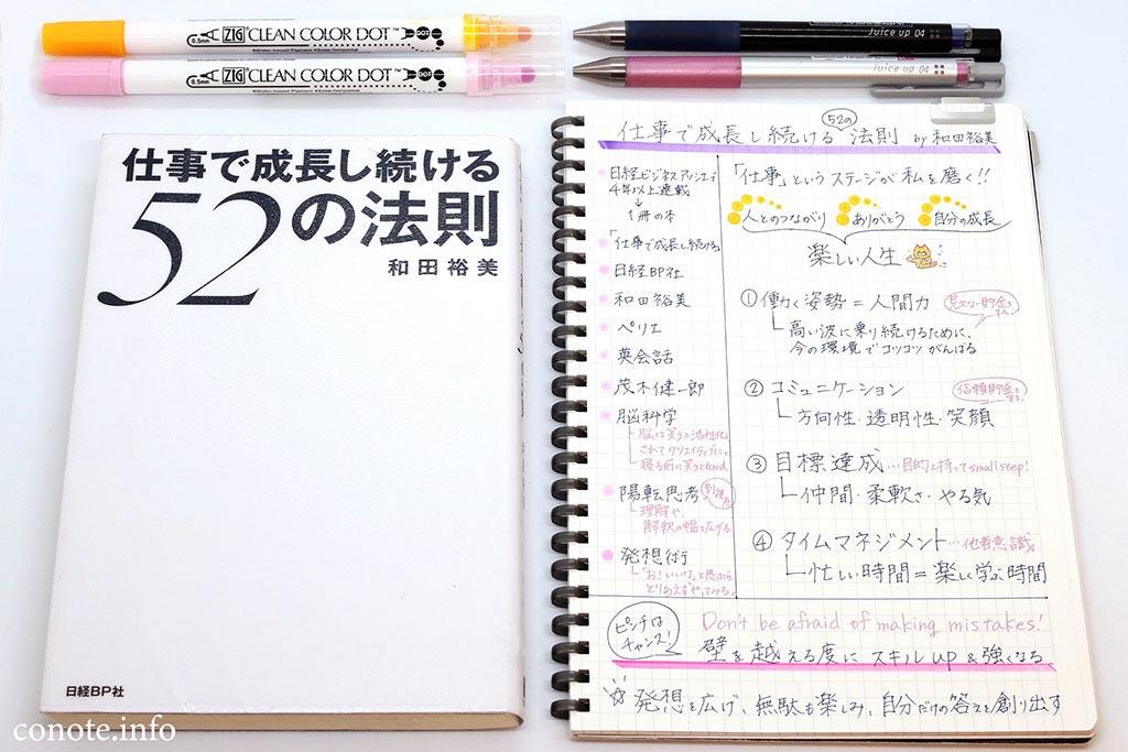 仕事で成長し続ける52の法則[和田裕美著]感想&内容のまとめ