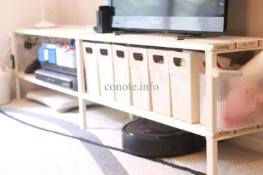 釘なし簡単!組み替え可能なテレビ台収納をDIY